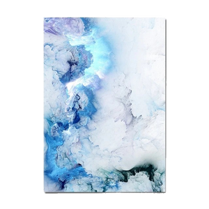 Modern Abstract Blue Marble Canvas Painting