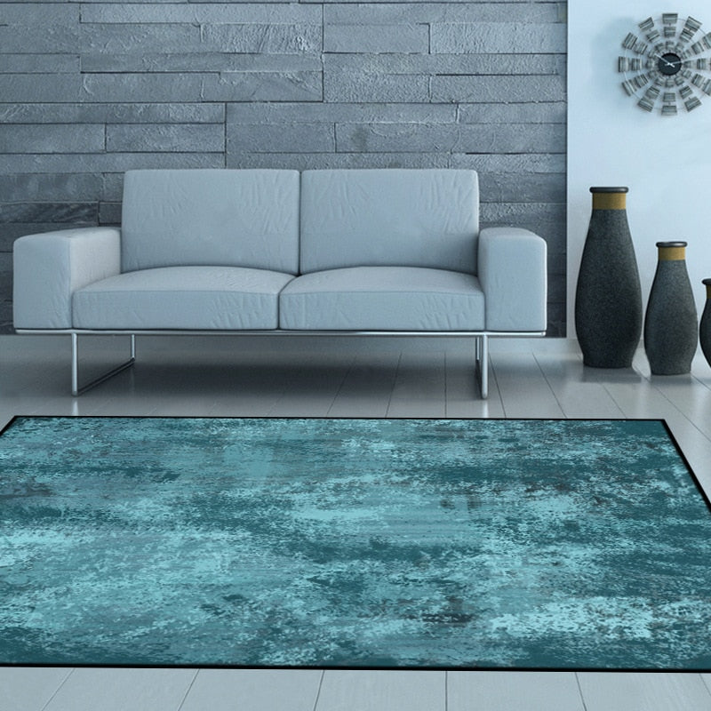Nordic Abstract Green Chenille Rug - OYRISS