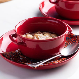 Deep Red Dinnerware Set - OYRISS