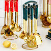 Luxury Golden Kitchenware Set Of 7 Pieces - OYRISS
