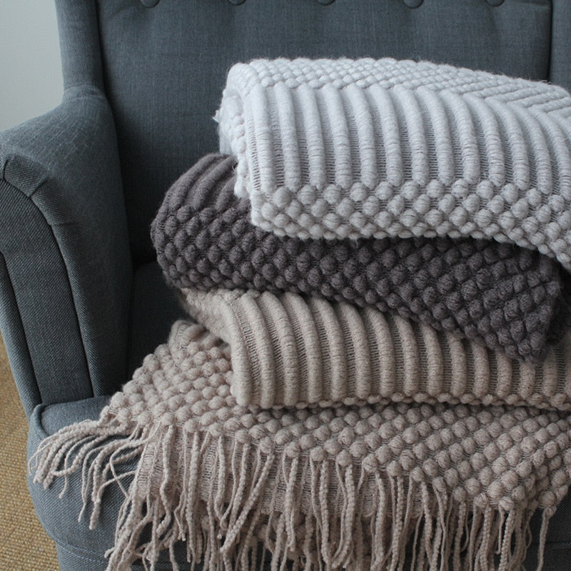 Nordic Knitted Throw Thread Sofa Blanket