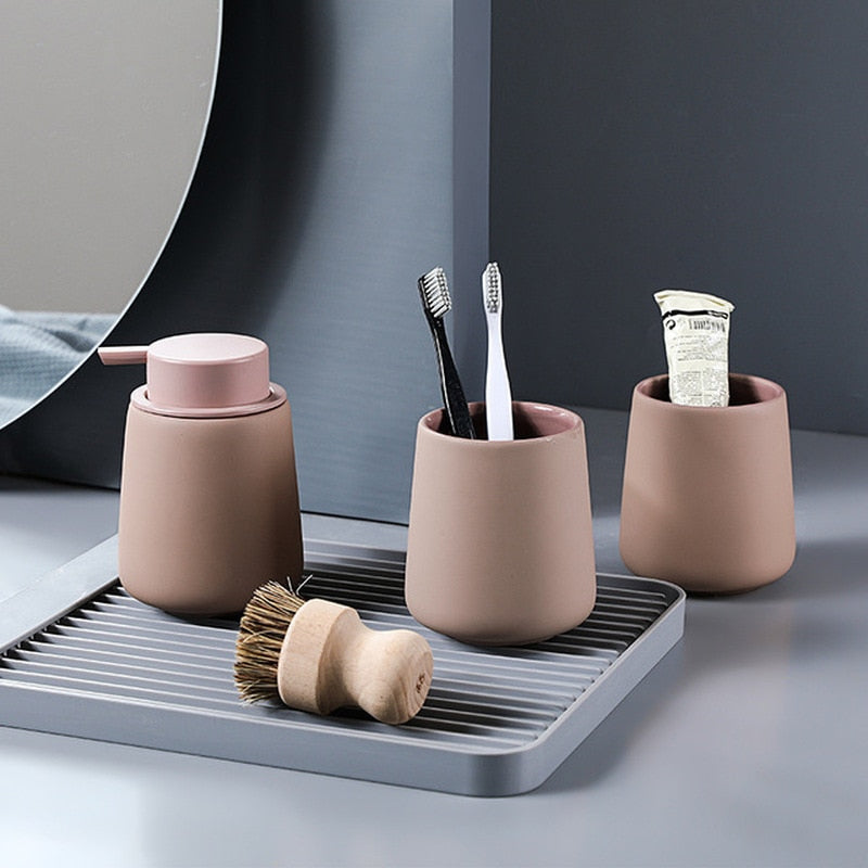 Nordic Ceramic Bathroom Set