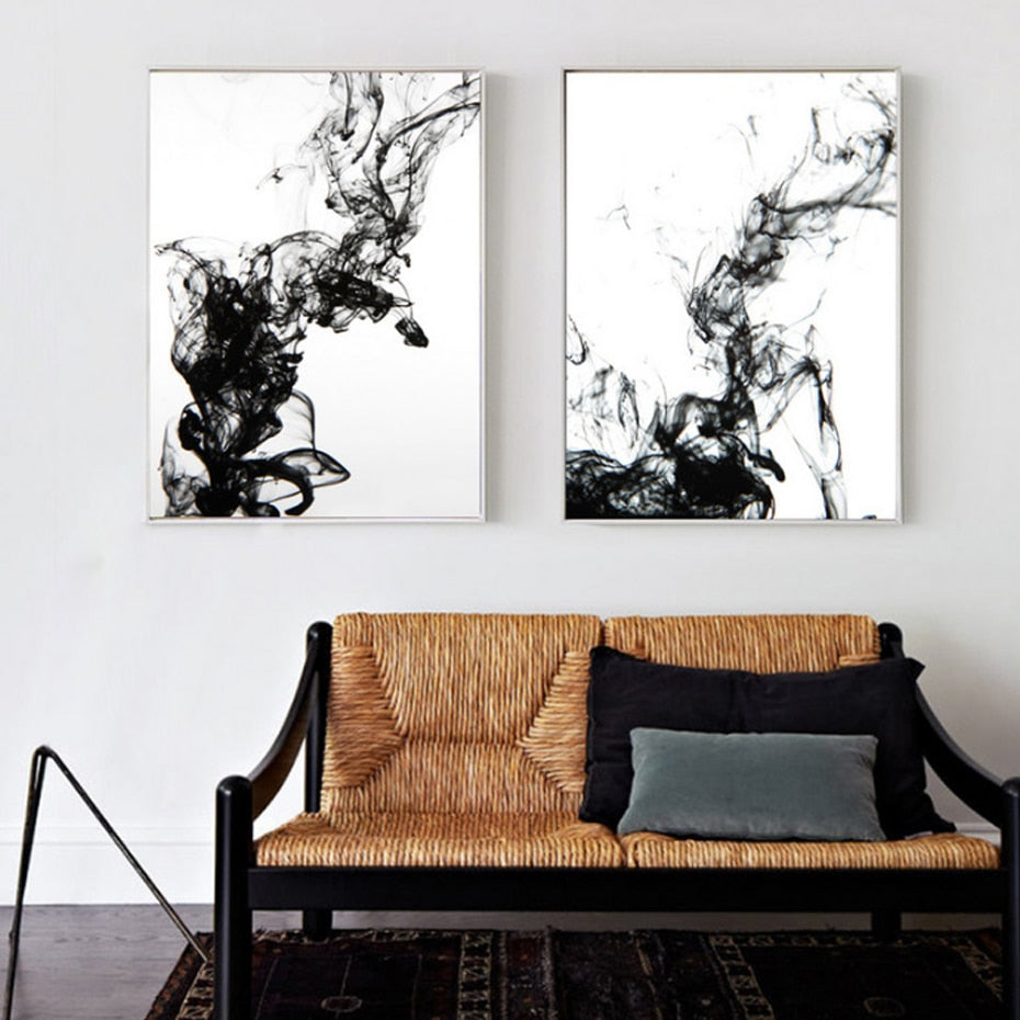 Dynamic Abstract Ink Canvas Painting - OYRISS