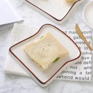 Good Day Toast Shape Ceramic Plate - OYRISS