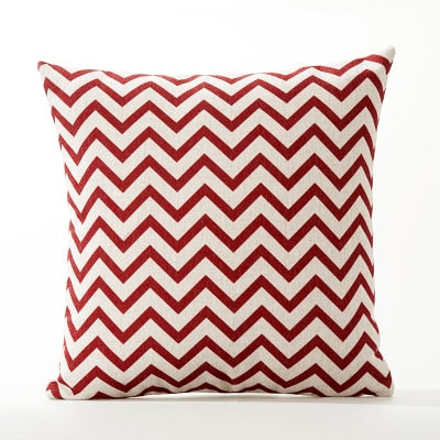 Red Geometric Lattice Pillowcase