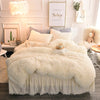 Luxury Soft White Fleece Bedding Set