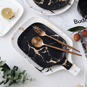 Black and White Marble Ceramic Cutting Board