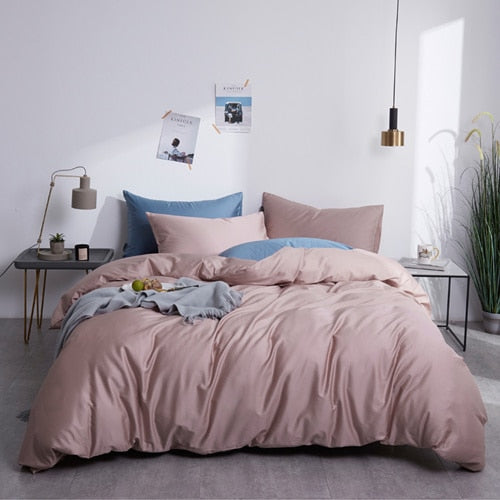 Nude Silky Cotton Bedding Set - OYRISS
