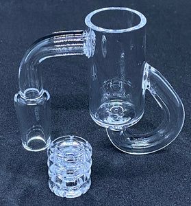 Recycler w Glass Knots 14mm 90 Degree Male Banger