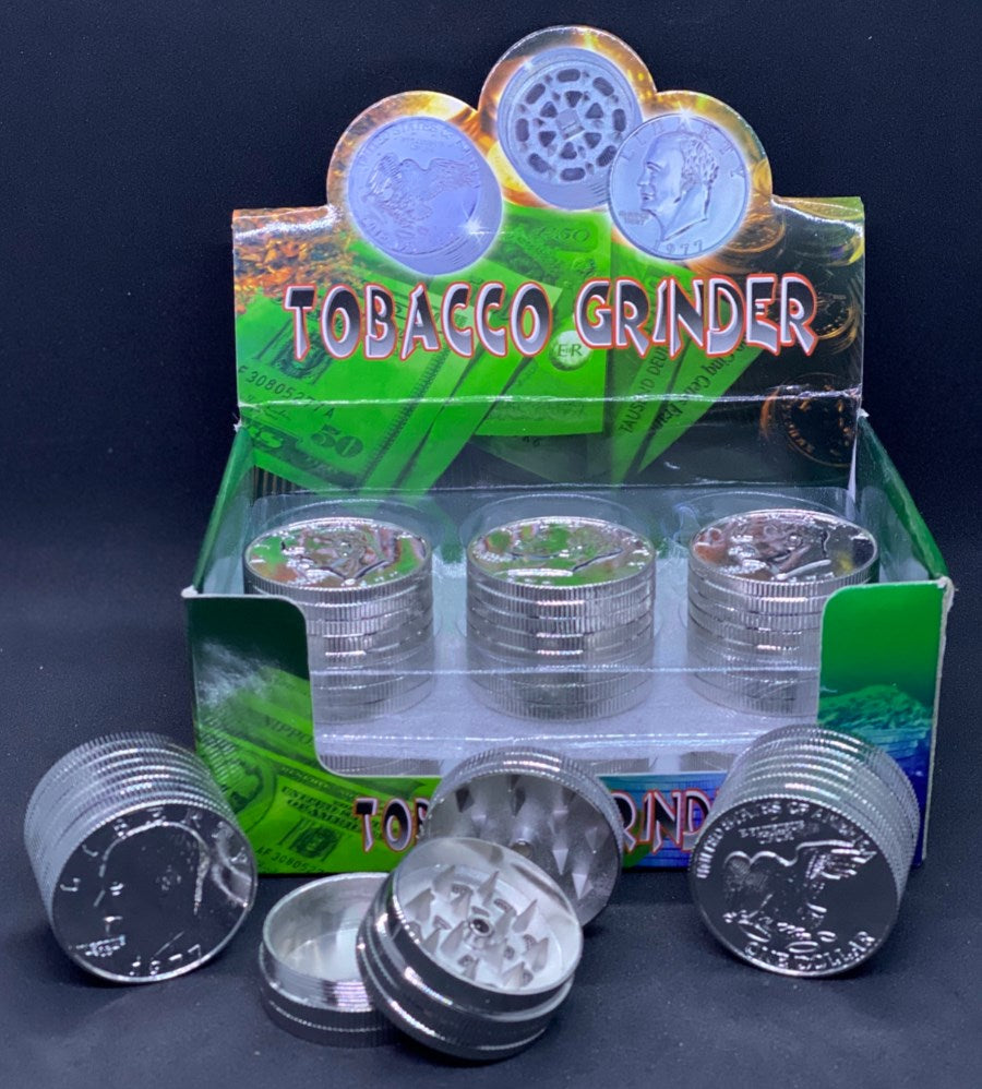 Mini Coin Design 3 Part Grinder