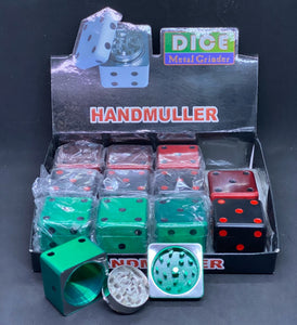 Medium Dice Design 3 Part Grinder