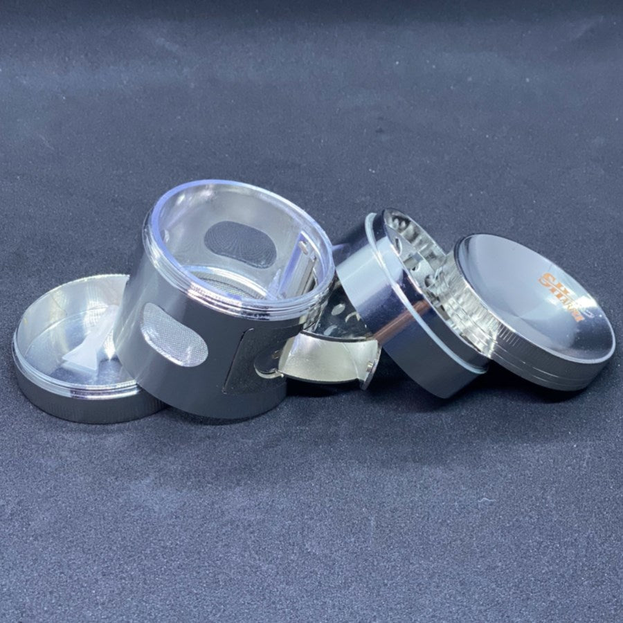 Premium 4 Part Grinder with Side Opening
