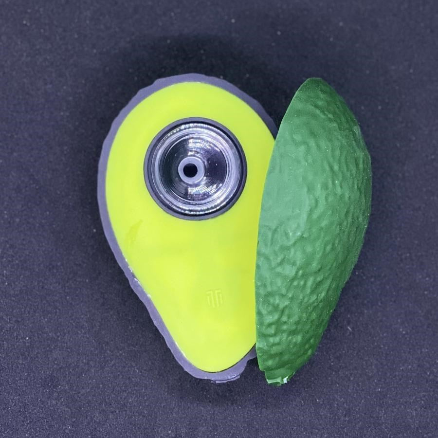 Avocado Design Silicone Pipe