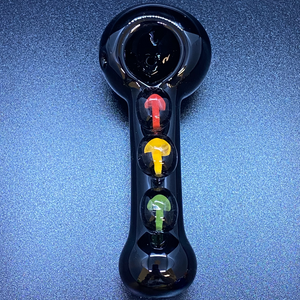 "5"" Rasta Milli Button Black Tube"