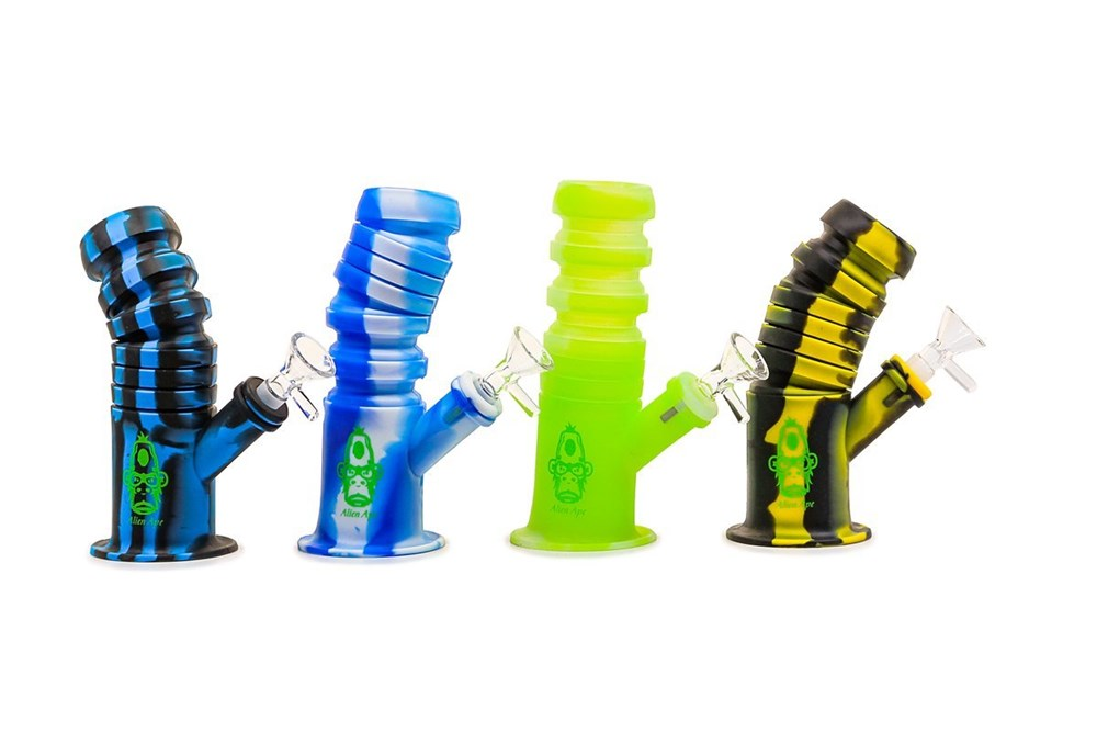 Alien Ape Silicone Waterpipe - Slinkie Small