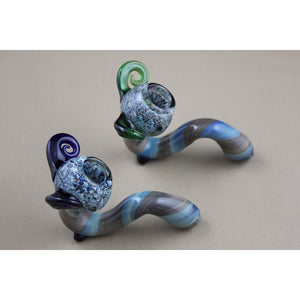 Fumed Tube Ram-Horn Sherlock Pipes
