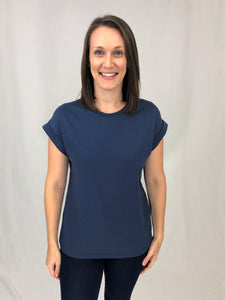 Women's Tee With Rolled Sleeves