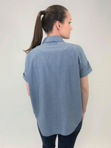 Women's Chambray Shirt Short Sleeve