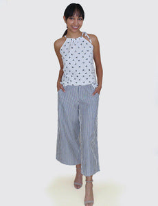 Cotton Elastic Waist Pants