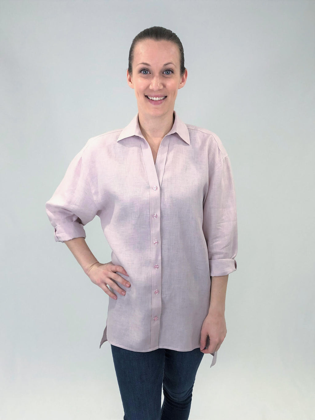 Women's Oversized Button Down Shirt - Linen