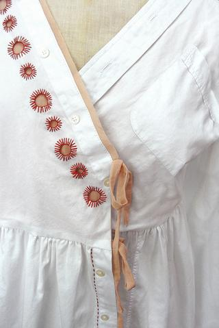 Eyelet Embroidery and Touches of Colour...