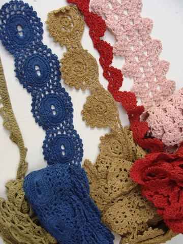Hand Crocheted Organic Cotton Lace