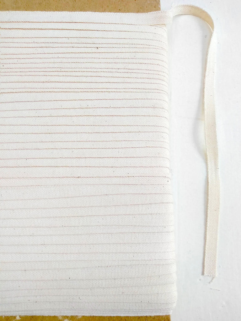 12mm Undyed Organic Cotton Ribbon