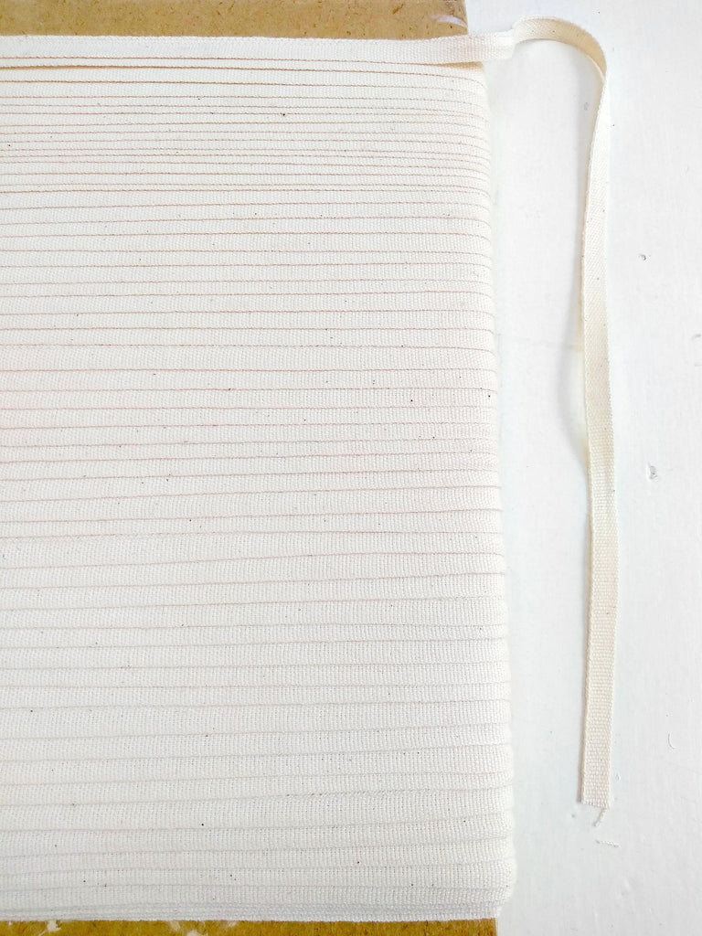6mm Undyed Organic Cotton Ribbon
