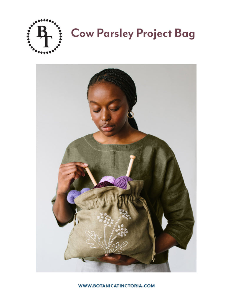 Cow Parsley Project Bag Sewing Pattern