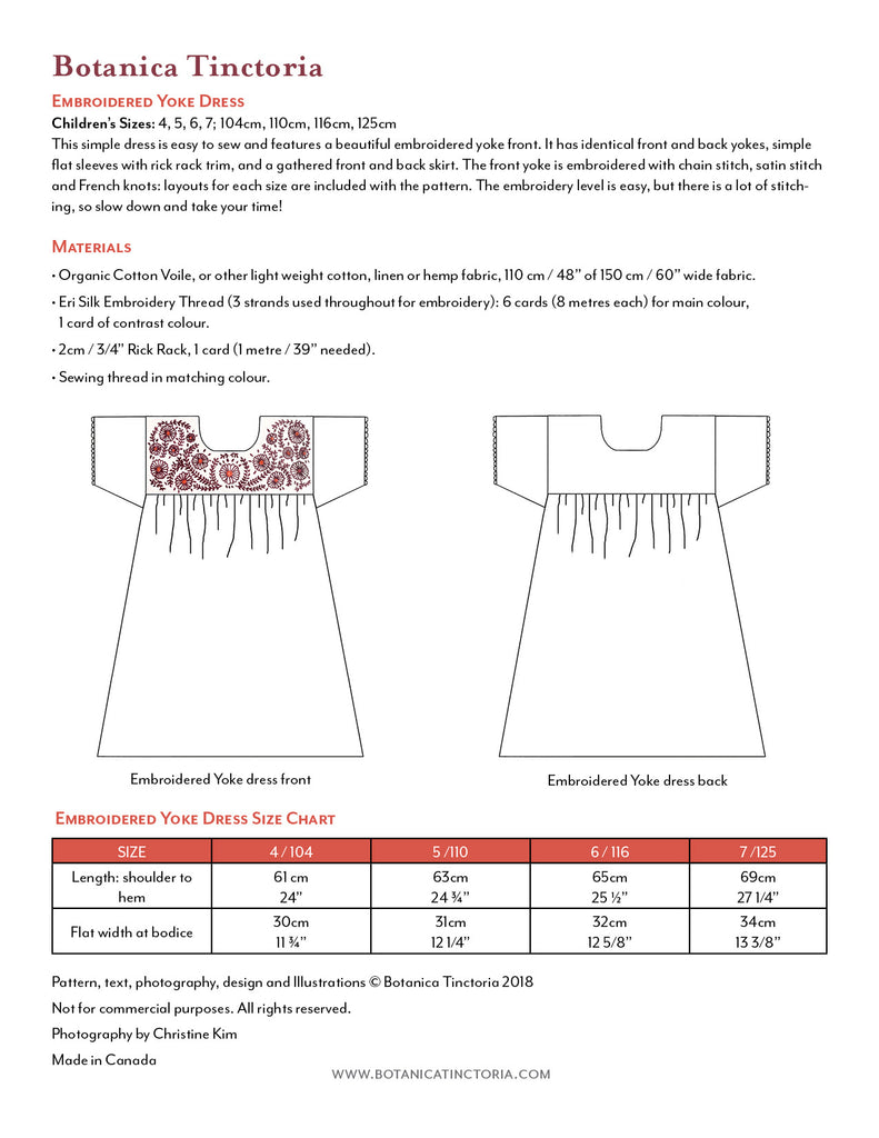 Embroidered Yoke Sewing Pattern (PDF)
