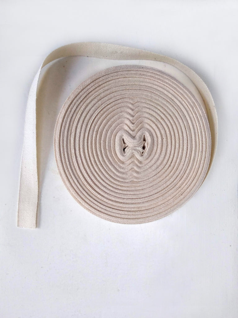 15mm Undyed Organic Cotton Ribbon