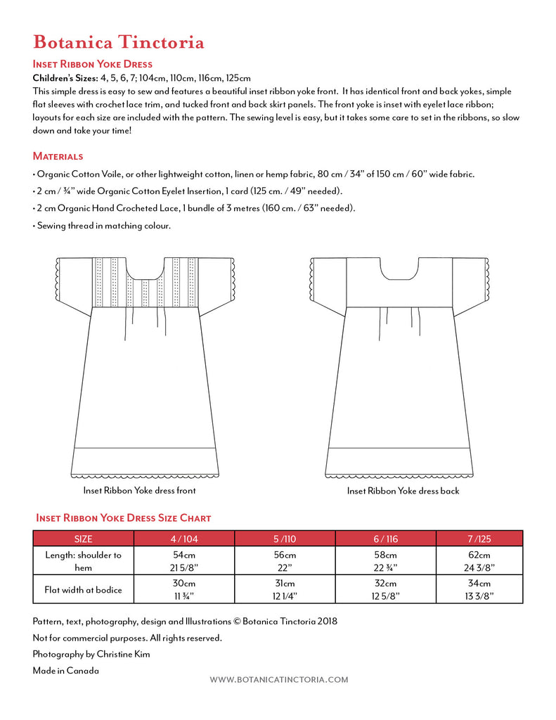 Inset Ribbon Yoke Pattern (PDF)