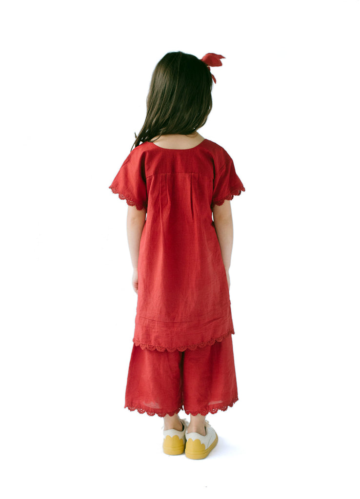 Inset Ribbon Yoke Dress (PDF)