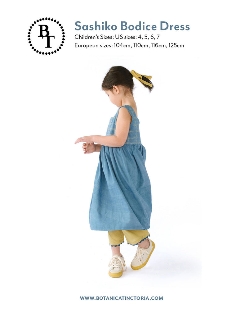 Sashiko Bodice Dress Sewing Pattern