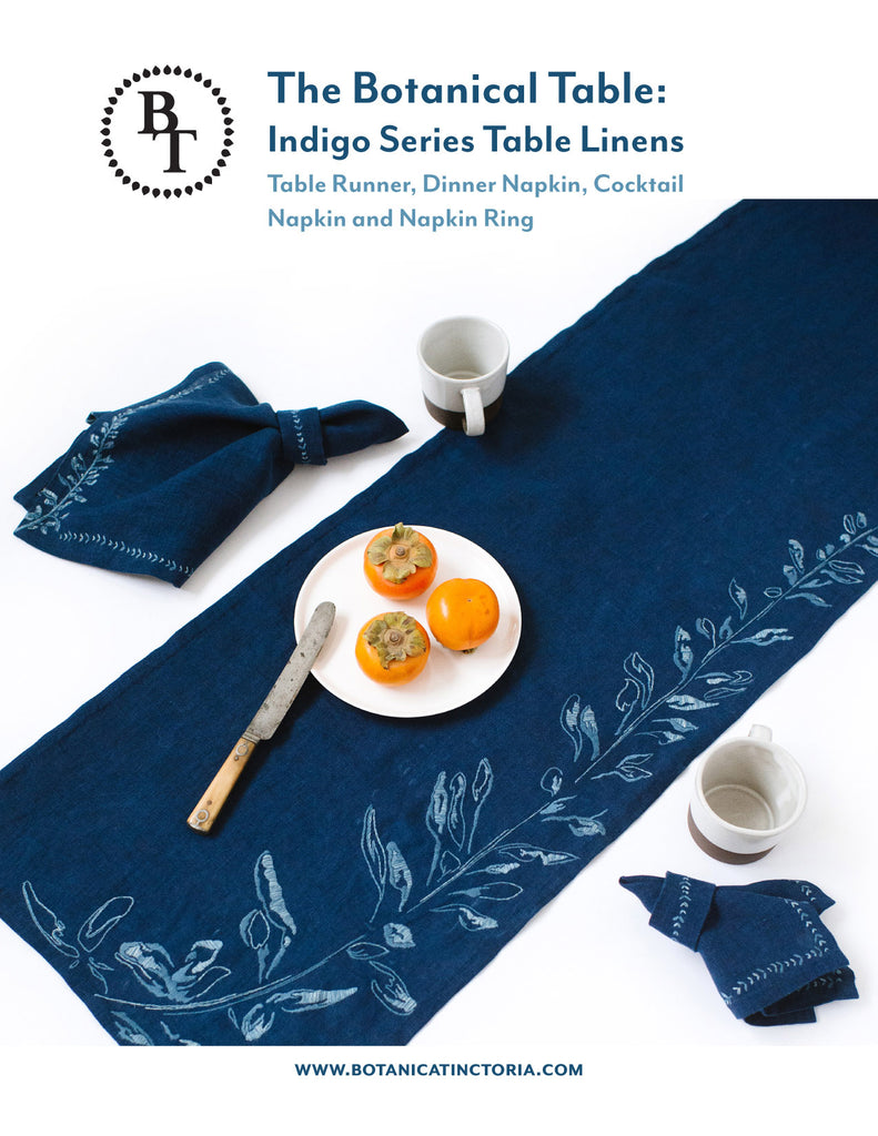 The Botanical Table: Indigo Series Table Linens