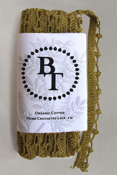 Hand Crocheted Organic Cotton Lace #15: 1.5 cm wide