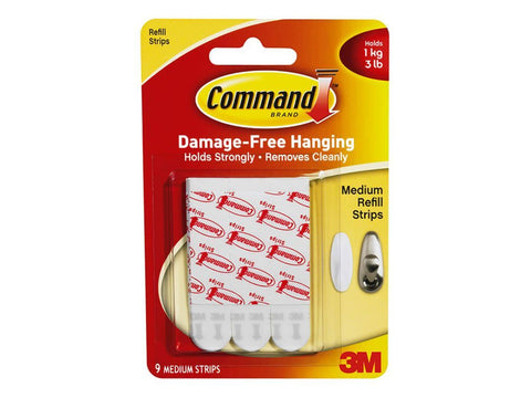 3M - Command Medium Replacement Strips Picture Hanging | Snape & Sons