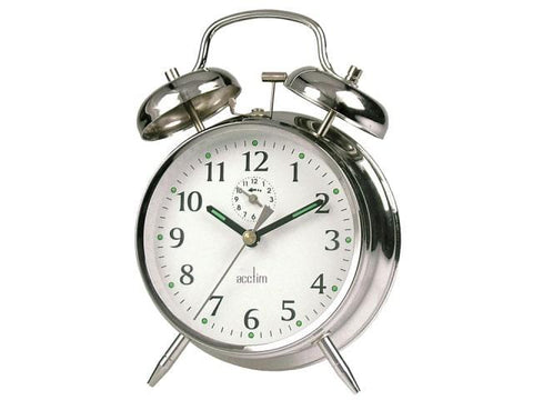Acctim - Saxon Springwound Alarm Clock Analogue Alarm Clock | Snape & Sons