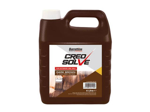 Barrettine - CreoSolve Dark Brown 4L Shed & Fence Paint | Snape & Sons