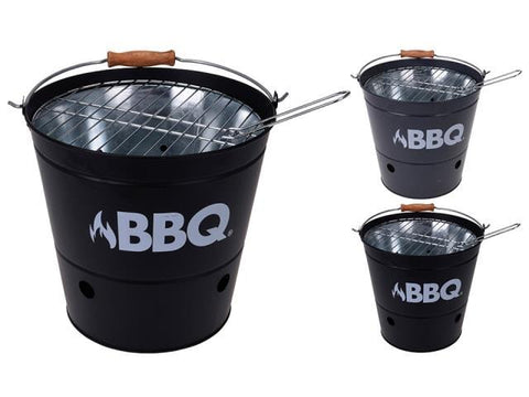 BBQ - Charcoal Bucket Barbecue Black C80216090 Barbecues | Snape & Sons