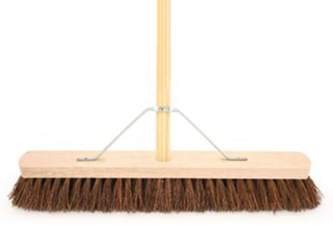 "Bentley Brushes - Stiff Bassine Platform Broom 24"" Brooms 
