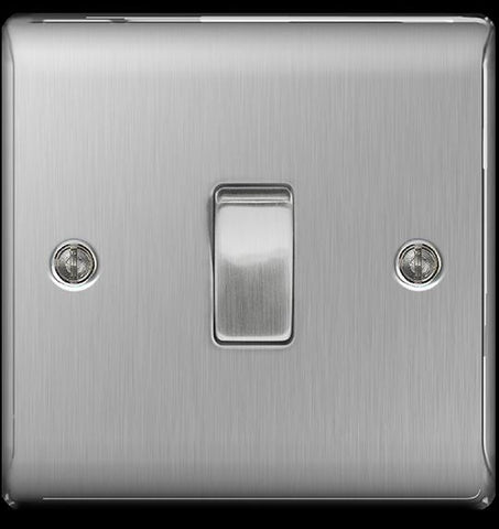BG Electrical - Nexus 1 Gang 2 Way Switch Satin Light Switches | Snape & Sons