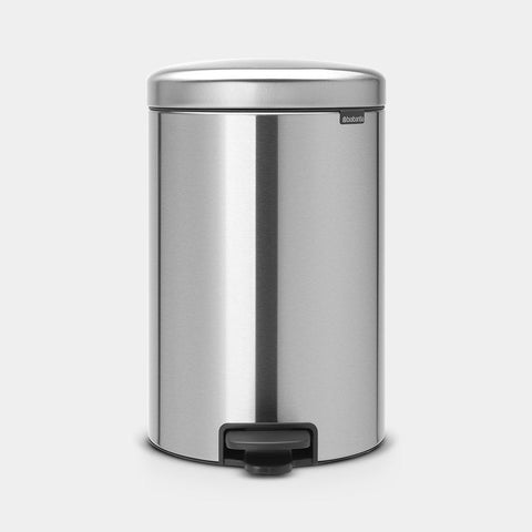 Brabantia - 20l NewIcon Pedal Bin Fingerprint Proof Matt Steel Pedal Bins | Snape & Sons