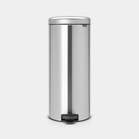 Brabantia - 30l NewIcon Pedal Bin Fingerprint Proof Matt Steel Pedal Bins | Snape & Sons