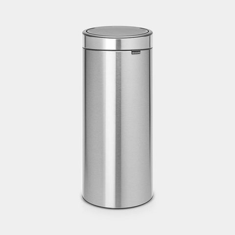 Brabantia - 30l Touch Bin Fingerprint Proof Matt Steel Touch Bins | Snape & Sons