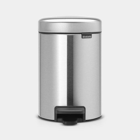 Brabantia - 3l NewIcon Pedal Bin Fingerprint Proof Matt Steel Pedal Bins | Snape & Sons