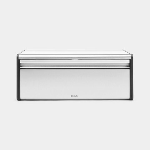 Brabantia - Fall Front Bread Bin Fingerprint Proof Matt Steel Bread Bins | Snape & Sons