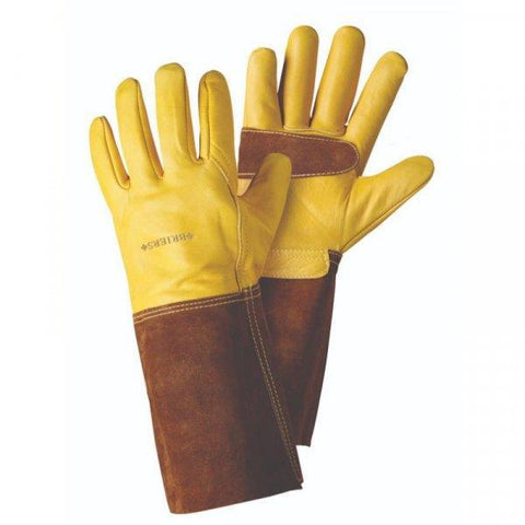 Briers - Ultimate Golden Leather Gauntlet Gardening Gloves | Snape & Sons
