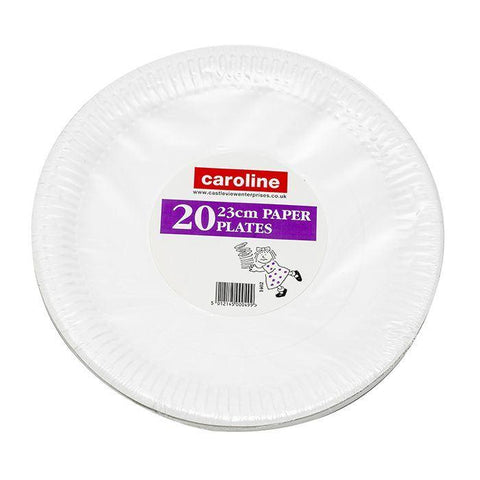Caroline - Paper Dinner Plates x20 Disposable Dinnerware | Snape & Sons