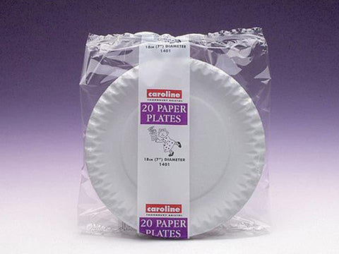 Caroline - Paper Plates 7in x20 Disposable Dinnerware | Snape & Sons